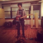 Charlie Nadler of Blane Fonda tracking guitar
