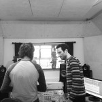 Sean O'Keefe and Greg Panciera in the studio