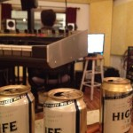 Blane Fonda and Miller High Life in the studio