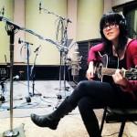 Leslie Hunt Recording Acoustic Guitar at Tonezone Studios